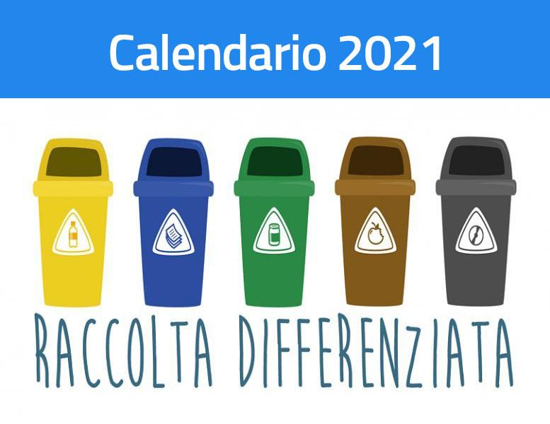Calendario raccolta differenziata 2021