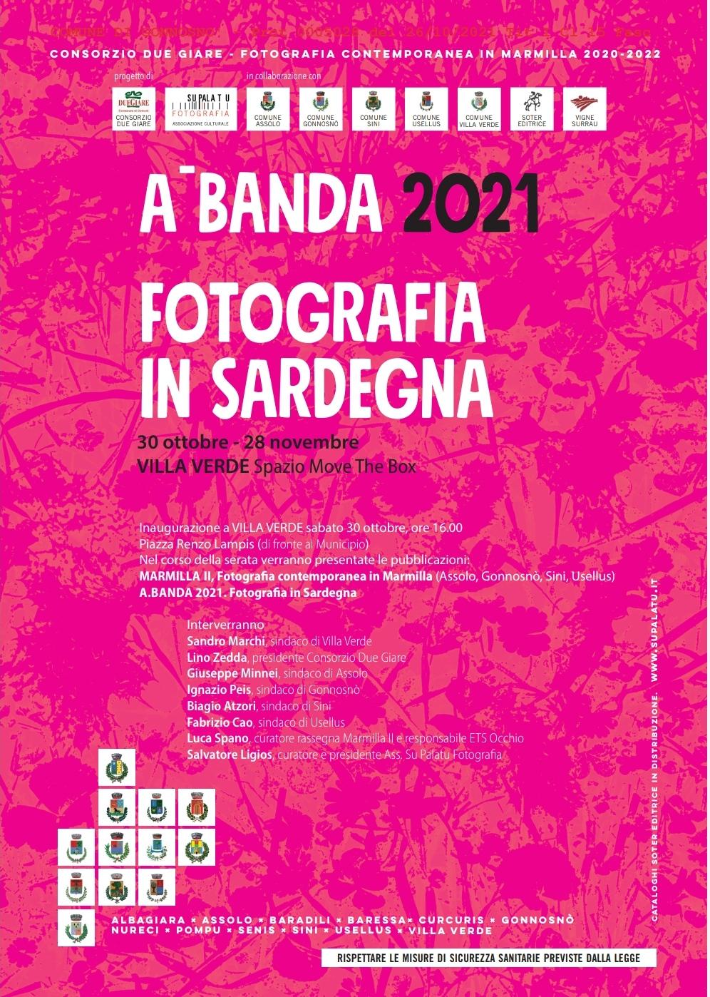 """Progetto fotografico """"A. Banda 2021 – Marmilla contemporanea, fotografia in Sardegna"""""""